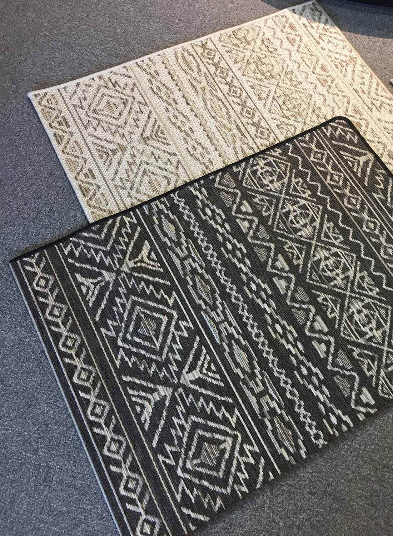 Lerhamn aztek mönstrad tålig matta Nylanders Mattor