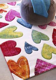 Bild på mattan Hearts