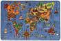 World Map Multi - Barnmattor