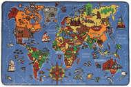 Bild på mattan World Map