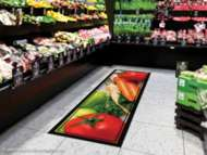 Bild på mattan Color Symphony - logomatta