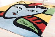 Bild på mattan Face