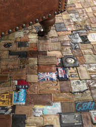 Bild på mattan Jeans Lable