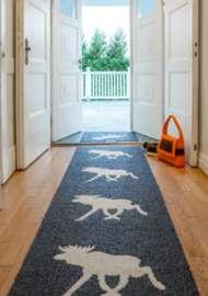 Bild på mattan Moose