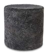 Curly pouf Cylinder Dark Grey - Skinn