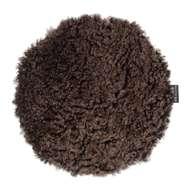 Curly rund stolsdyna Brown Melange - Skinn