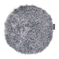 Curly rund stolsdyna Greysilver - Skinn