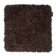Curly fyrkantig stolsdyna Brown Melange - Skinn