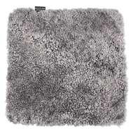 Curly fyrkantig stolsdyna Charcoal grey-silver - Skinn