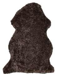 Curly rug Brown Melange - Skinn