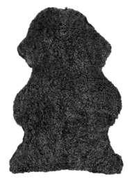 Curly rug Dark Grey - Skinn