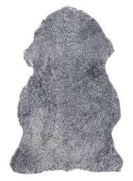 Curly rug Greysilver - Skinn