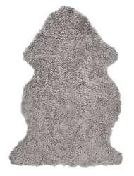 Curly rug Natural Grey - Skinn