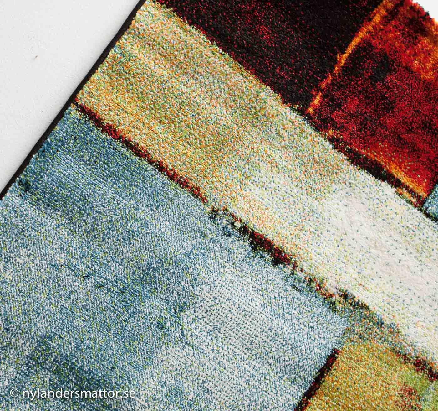 Galleri - färgglad matta till vardagsrummet - Nylanders Mattor